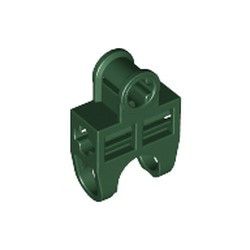 Dark Green Technic, Axle Connector 2 x 3 with Ball Joint Socket, Open Sides - used