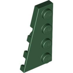 Dark Green Wedge, Plate 4 x 2 Left - new