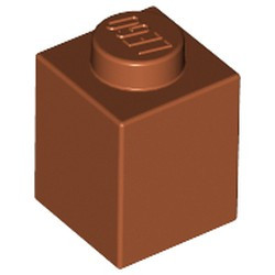 Dark Orange Brick 1 x 1 - new