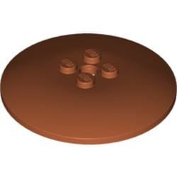 Dark Orange Dish 6 x 6 Inverted (Radar) - Solid Studs - used