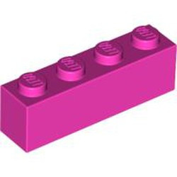 Dark Pink Brick 1 x 4 - used