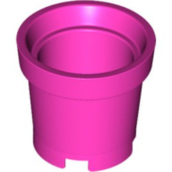 Dark Pink Container, Bucket 2 x 2 x 2 without Handle Holes - used
