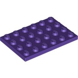 Dark Purple Plate 4 x 6 - new