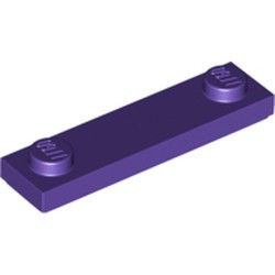 Dark Purple Plate, Modified 1 x 4 with 2 Studs with Groove - new
