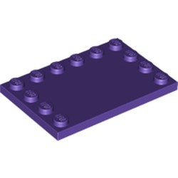 Dark Purple Tile, Modified 4 x 6 with Studs on Edges - new