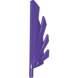 Dark Purple Wing 9L with Stylized Feathers