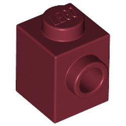 Dark Red Brick, Modified 1 x 1 with Stud on 1 Side