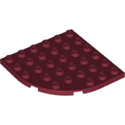 Dark Red Plate, Round Corner 6 x 6 - new