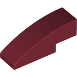 Dark Red Slope, Curved 3 x 1 - new