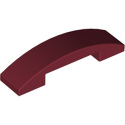 Dark Red Slope, Curved 4 x 1 Double