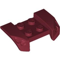 Dark Red Vehicle, Mudguard 2 x 4 with Headlights Overhang - used