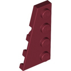 Dark Red Wedge, Plate 4 x 2 Left - new