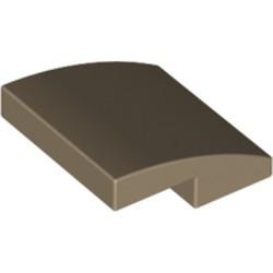 Dark Tan Slope, Curved 2 x 2 - new