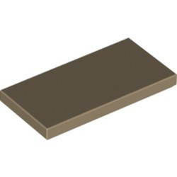 Dark Tan Tile 2 x 4 - new