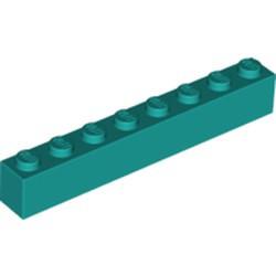 Dark Turquoise Brick 1 x 8 - new