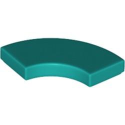 Dark Turquoise Tile, Round Corner 2 x 2 Macaroni - new