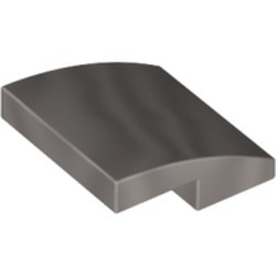 Flat Silver Slope, Curved 2 x 2