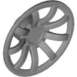 Flat Silver Wheel Cover 9 Spoke - 24mm D. - for Wheels 55982 and 56145 - new