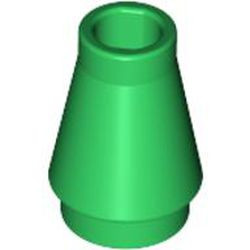 Green Cone 1 x 1 without Top Groove