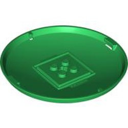 Green Container, X-Pod Bottom Cap 9 x 9 x 1 - used