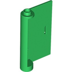 Green Door 1 x 3 x 4 Right - Open Between Top and Bottom Hinge - used