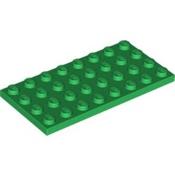 Green Plate 4 x 8 - new