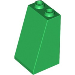 Green Slope 75 2 x 2 x 3 - Hollow Studs - used