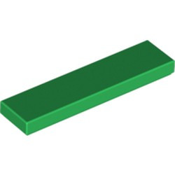 Green Tile 1 x 4 - used