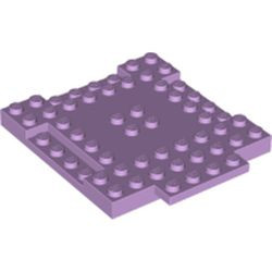 Lavender Brick, Modified 8 x 8 x 2/3 with 1 x 4 Indentations and 1 x 4 Plate