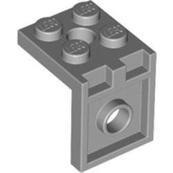 Light Bluish Gray Bracket 2 x 2 - 2 x 2 with 2 Holes - used