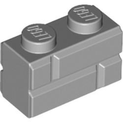 Light Bluish Gray Brick, Modified 1 x 2 with Masonry Profile