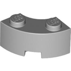 Light Bluish Gray Brick, Round Corner 2 x 2 Macaroni with Stud Notch and Reinforced Underside