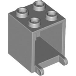 Light Bluish Gray Container, Box 2 x 2 x 2 - used
