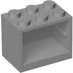 Light Bluish Gray Container, Cupboard 2 x 3 x 2 - Solid Studs