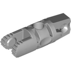 Light Bluish Gray Hinge Cylinder 1 x 3 Locking with 1 Finger and 2 Fingers on Ends, 7 Teeth, with Hole