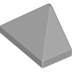 Light Bluish Gray Slope 45 2 x 1 Triple with Bottom Stud Holder - new