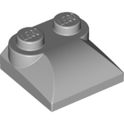 Light Bluish Gray Slope, Curved 2 x 2 x 2/3 with Two Studs and Curved Sides - new