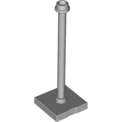 Light Bluish Gray Support 2 x 2 x 5 Bar on Tile Base with Hollow Stud and Stop Ring