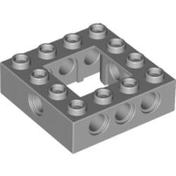 Light Bluish Gray Technic, Brick 4 x 4 Open Center - used