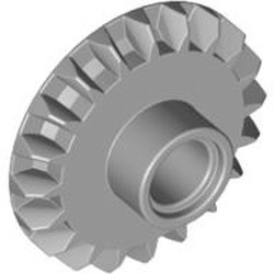 Light Bluish Gray Technic, Gear 20 Tooth Bevel with Pin Hole - new