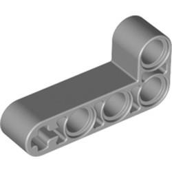 Light Bluish Gray Technic, Liftarm, Modified Bent Thick L-Shape 2 x 4
