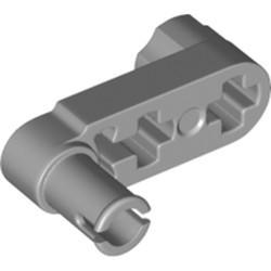 Light Bluish Gray Technic, Liftarm, Modified Crank / Pin 1 x 3 - Axle Holes and Squared Pin Hole