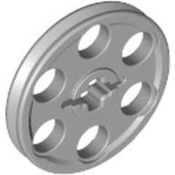 Light Bluish Gray Technic Wedge Belt Wheel (Pulley) - used