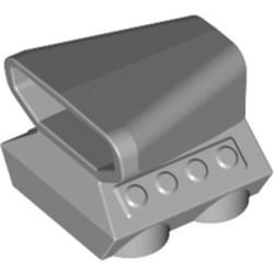 Light Bluish Gray Vehicle, Air Scoop Engine Top 2 x 2 - used