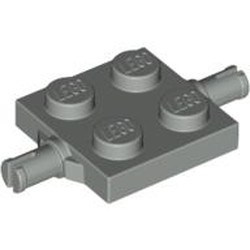 Light Gray Plate, Modified 2 x 2 with Wheels Holder