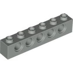 Light Gray Technic, Brick 1 x 6 with Holes