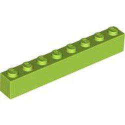 Lime Brick 1 x 8