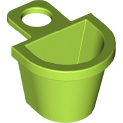 Lime Minifigure, Container D-Basket - used