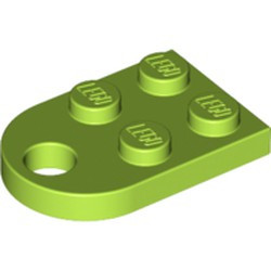 Lime Plate, Modified 2 x 3 with Hole