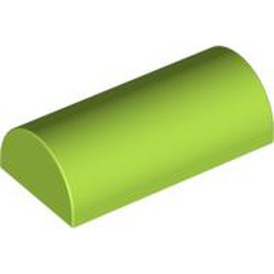 Lime Slope, Curved 2 x 4 Double - used